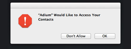 Contacts Request Dialog